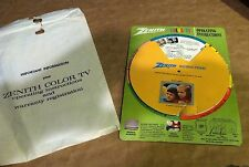 + Vintage  INSTRUCTIONAL - ZENITH COLOR TV - operating instruction- ADVERTISING