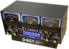 Dosy TFB-3001-S 3 Meter In-Line Wattmeter with Black Meters & Frequency Counter