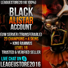 League of Legends account na Euw eune Black alistar level 16 unranked Smurf