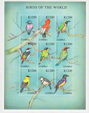 Zambia - Birds of the World, 2000 - Sc 899 Sheetlet of 9 MNH