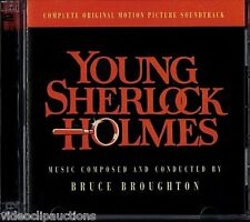 YOUNG SHERLOCK HOLMES Bruce Broughton movie score soundtrack 2 CD promo release