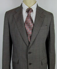 Mens Cricketeer Wool Sport coat jacket Two button – Plaid – Size 40 R