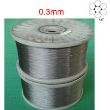 0.3mm 1x7 marine grade 316Stainless Steel Cable Wire Rope -100feet