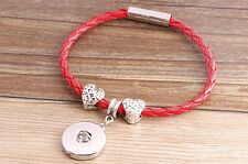 selling new DIY nosa lether bracelet fit chunk snap button j3389