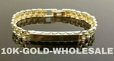 "NEW 10K YELLOW GOLD 7 MM ID NAME BRACELET 7.5"" MENS & LADIES 3216"