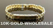 "NEW 10K YELLOW GOLD 7 MM ID NAME BRACELET 7.5"" MENS & LADIES 3216"