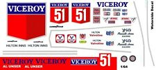 #51 Al Unser Viceroy Lola T332 1975 1/64th Scale Slot Car Decal Waterslide