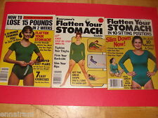 3 vtg exercise books Lose 15 Pounds in 2 Weeks, Flatten Your Stomach, Slim Down