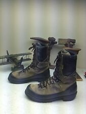 VINTAGE GRAY MEINDL LEATHER LACE UP MOUNTAINEERING HIKING BOOTS 10.5 M