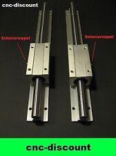 CNC Set 16x 600mm 2x lange Linearwagen Linearführung Linear Guide Rail  3D Fräse
