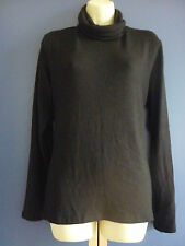 BNWT Sarah Dunnway Ladies Black Polo Neck Top size large / Roll Neck Top