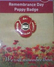 REMEMBRANCE DAY 11TH NOVEMBER POPPY LAPEL PIN  - REMEMBERANCE DAY NOV 11th