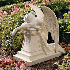 christian Victorian Angel of Sorrow & Grief monument statue