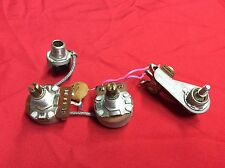 VINTAGE 1974 USA GIBSON L6-S DELUXE WIRING HARNESS POTS SWITCH JACK ORIGINAL
