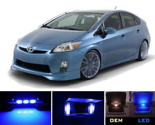 Blue Vanity / Sun visor  LED light Bulbs for Toyota Prius Prius C & V (4 pieces)