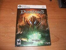 Dungeons Game For Windows (PC DVD, 2011) NEW With Slip Cover