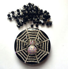 Butler and Wilson Clear Crystal Spiderweb Mirror Rosary Chain Necklace NEW ONLY1
