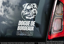 Dogue de Bordeaux - Car Window Sticker - French Mastiff Dog on Board Sign - TYP1