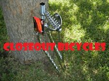 """BICYCLE SPRINGER FORK 26"""" BENT SQUARE TWISTED CRUISER LOWRIDER CHOPPER"""