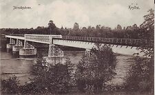 Sweden Krylbo Avesta - Railway Railroad Bridge old unused postcard