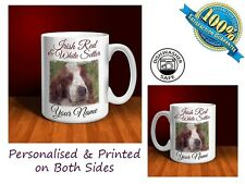 Irish Red and White Setter Personalised Ceramic Mug: Perfect Gift. (D078)