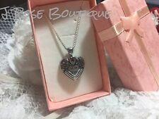 VALENTINE RUBY HEART I MISS YOU WING STAINLESS Cremation URN W/FUNNEL Necklace