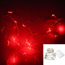 20 Led Battery Operated Micro Silver Wire String Fairy Party Xmas Wedding Lights