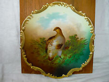 Antique Hand Painted Porcelain Plate Grouse Royal Munich Z S & Co Bavaria Plate