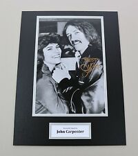 John Carpenter Signed 16x12 Photo Halloween Autograph Memorabilia Display + COA