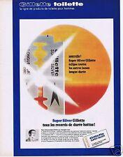 Publicité Advertising 026 1967 Gilette Super Silver lames de rasoir