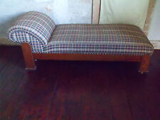 Antique Mission Arts and Crafts Oak Chaise Longue Fainting Couch Day Bed
