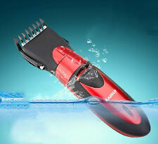 Red Waterproof Electric Man Kids Hair Clipper Baby Hair Removal Trimmer Cutter