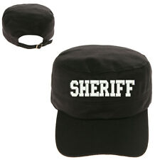 SHERIFF TEXT MILITARY CADET ARMY CAP HAT HUNTER CASTRO