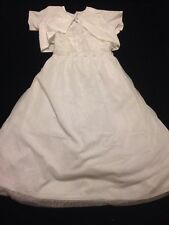 NWT  Mia Sophia 14, Girls White First Communion, Special Occasion Dress Shrug