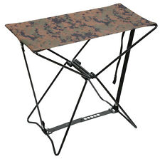 Woodland Digital Camo Lightweight Portable Chair Folding Camp Stool Rothco 4547