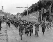 """U.S. Soldiers with German Prisoners 8""""x 10"""" World War II Photo Picture 245"""