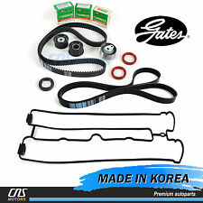 Gates HTD Timing Belt Kit w/ V-Belt Valve Cover Gasket 04-08 Suzuki Forenza Reno