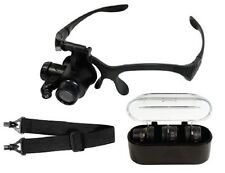 Magnifier Magnifying 17X Eye Loupe Glasses Jewelers Watch Repair Hands Free LED
