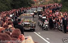 "PRINCESS DIANA  8.5 X 11"" PHOTO FUNERAL PROGRESSION"