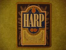 Beer Pub Coaster: HARP Celebration Brew    Brewed By Guinness-Brewery Of Ireland
