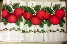 """Set of 3 same PRINTED Cotton Kitchen Towels (15"""" x 25"""") , 3 APPLES by Broder"""
