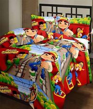 SA Collection's Subway Surfers PolyCotton Single Bedsheet with 1 Pillow Cover