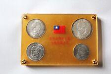 NSW-Leipzig Taiwan Coin Set 1965 Dr. Sun Yat-Sen in Original Packaging RARE