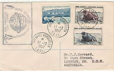 FRENCH ANTARCTIC TERR 1957 SPECIAL COVER TO AUSTRALIA