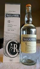 Cragganmore Single Malt Scotch Whisky Bottle, Cork, and Box