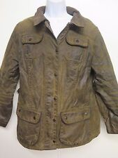 Ladies Barbour L1601 Ladies Utility Jacket Waxed Cotton UK 16 Euro 42 in Sage