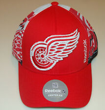 Detroit Red Wings Playoffs NHL Hockey Snapback Cap Hat Trucker Reebok Centre Ice