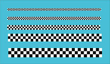"Checkered Black White Tape 2"" 52mm Wide Car Motorbike Vinyl Sticker Decal 3 Sqs"