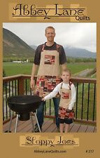 SLOPPY JOES Men & Boys Apron Sewing Pattern by Abbey Lane Quilts