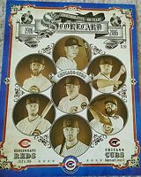 Chicago Cubs Commemorative 100 years at Wrigley Field Scorecard Bryant Rizzo